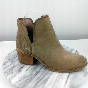 Hinge Barris Women Sz 5.5 Beige Leather Booties